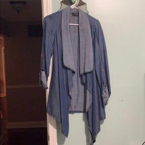 Denim layering blouse
